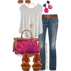 """#plus #size #outfit """"Summertime - Plus Size"""" by alexawebb on Polyvore"""