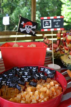 Pirate Party * Blocks of Gold (Cheese Cubes)