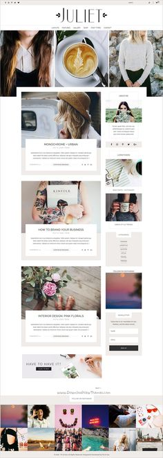 Juliet is a chic and sophisticated responsive #WordPress theme for #feminine #blogger and shop websites with 2 homepage layouts download now➩ https://themeforest.net/item/juliet-a-feminine-blog-shop-theme-for-wordpress/17625325?ref=Datasata