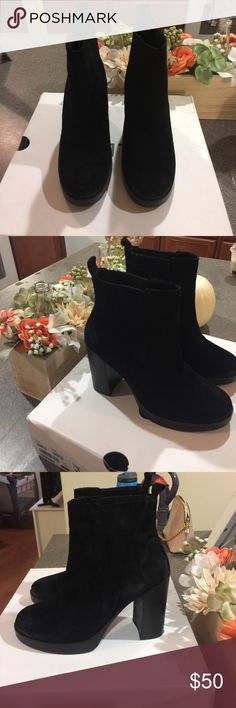Aldo black boots 🍂✨ final Aldo black suede boots . Size 6.5 with box Aldo Shoes