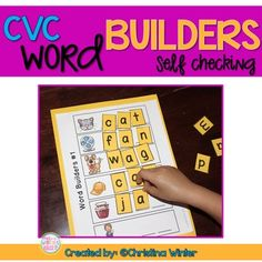 CVC Word Builders {Self Checking!}****Download my preview and try this product for free before you purchase****My emergent readers love to practice blending sounds and building CVC words over and over at this engaging word work center! These word builders are  self checking since students only have the letters they need to build the pictured words on their mat.