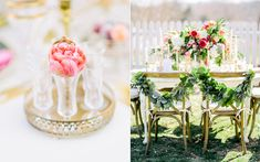 romantic wedding receptions - photo by Rachel May Photography http://ruffledblog.com/modern-marie-antoinette-wedding-ideas