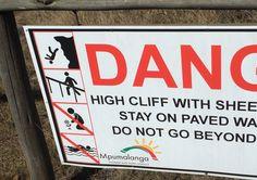 Je tombe, version sud africaine : je tombe pour de vrai, la tête en bas #SouthAfrica #danger #HighCliff
