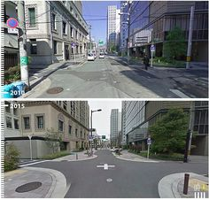 Reshaped street in downtown Osaka manages traffic & makes room for pedestrians. Click image to tweet and visit the Slow Ottawa boards >> https://www.pinterest.com/slowottawa/