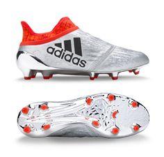 adidas X 16+ Purechaos FG - Silver Metallic/Core Black/Solar Red