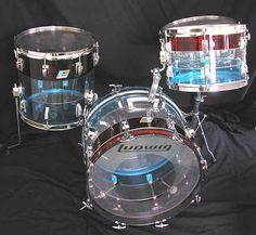 vintage Ludwig Vistalite Drums