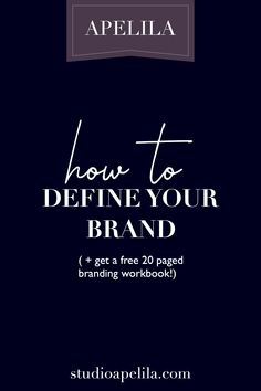 Learn all the information on how to brand your own business as well as download a free 20 paged workbook on building a successful brand. brand identity, blog, course, ebook, branding, marketing.
