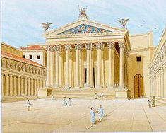 Drawing of the Temple of Mars Ultor in the Forum of Augustus