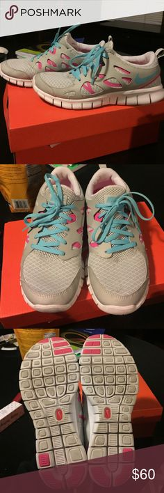 Nike Free Runs Nike running shoes, free run 2's, 9/10 condition, barely worn, size 6Y or size 7.5 women's Nike Shoes Athletic Shoes