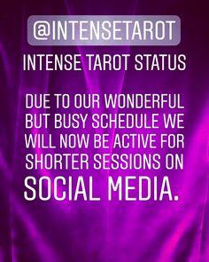 @intensetarot  #intensetarot #whatdoyouneedtoknowmostrightnow #tarot  #instagram #Pinterest #twitter #tumblr #youtube Tarot, Social Media, Twitter, Business, Youtube, Instagram, Store, Social Networks, Business Illustration