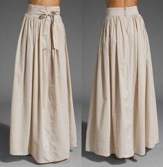 Floor length skirt