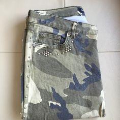 Allen B. Embellished Camo's Cotton elastin blend embellished boot cut jeans Allen B. Jeans Boot Cut