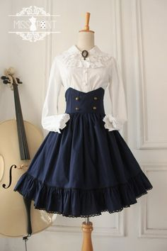 *** Recommendation: Miss Point ***College School Style*** Skirt [Only $37.99] *** Brand: Miss Point (An indie Taobao brand) *** ★Custom Sizing Available★ >>> http://www.my-lolita-dress.com/college-school-style-gothic-vintage-high-waist-lolita-skirt-yua