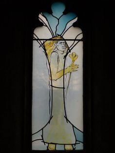 Description: Oundle, England: Oundle School Chapel: angel (2005, Mark Angus)