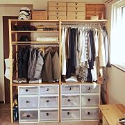 Interior examples such as shelves / open storage / OURHOME / Star Wars / closet … 10 … – Women's Style Muji Home, Open Wardrobe, Studio Rental, Japanese House, Walk In Closet, Layout Design, Room Decor, Shelves, Storage