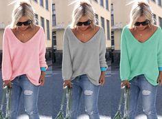 Sexy V-neck Sweater de KnitCat sur DaWanda.com