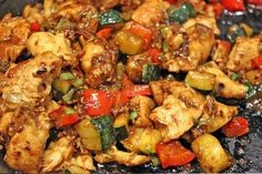 Kung Pao Chicken slimming world friendly - syn free Slimming World Chicken Recipes, Slimming World Recipes Syn Free, Slimming World Stir Fry, Cooking Recipes, Healthy Recipes, Healthy Meals, Diet Recipes, Healthy Food, Recipies