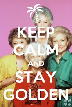 My BFF always made me watch the golden girls during exams....they always made everything better.  Lol