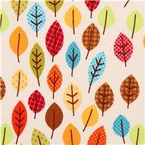 Tela de hojas otoño crema Harvest Leaves de Riley Blake Happy Harvest