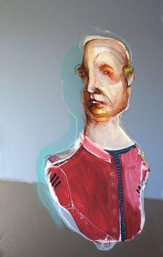 Red cadet ,mixed media, 200cm x 120cm. 2012 Dan O Toole