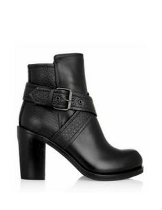 MCQ BY ALEXANDER MCQUEEN Crossover-Strap Leather Ankle Boots Fashion. Style. Shoes.
