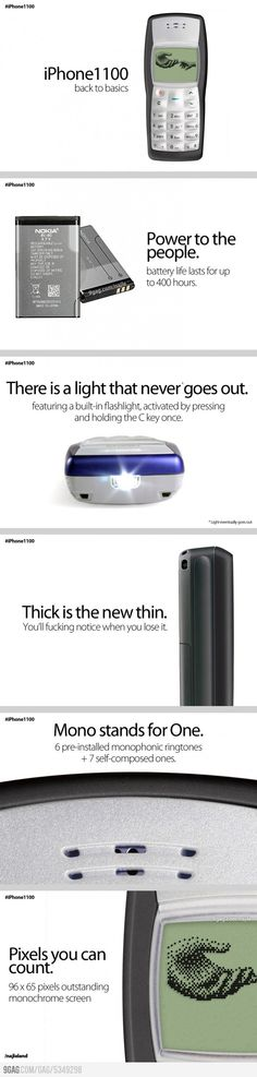 iPhone 1100.  I miss Nokia!