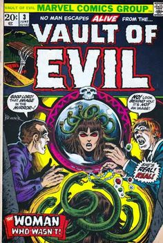 Vault of Evil #3 (1973-1975) Marvel Comics. Frank Brunner Cover Art. This story is a reprint of the comic Adventures into Terror Vol 2 #15