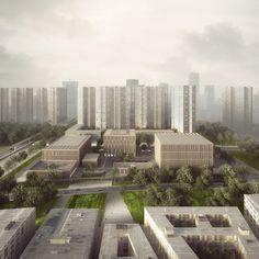 mecanoo organizes shenzhen's longhua art museum + library around series of patios