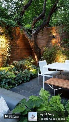 Small Backyard Gardens, Backyard Patio Designs, Small Backyard Landscaping, Small Space Gardening, Garden Spaces, Small Gardens, Landscaping Ideas, Backyard Pools, Narrow Backyard Ideas