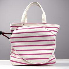 Sailor Pink Canvas Tennis Bag | Tennis Bags, Cosmetic Bags