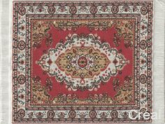 Tapis couloir Persan rouge médaillon