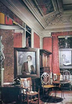 SALON: Inside Natalie Clifford Barney's Salon at rue Jacob, Paris Rainer Maria Rilke, Romaine Brooks, Natalie Clifford Barney, Paris 1920s, Aesthetic Space, Illustrations And Posters, Painting For Kids, City Lights, Image Photography