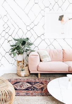 that couch though | pink couch, feminine, home inspiration, house, living space, room, scandinavian, nordic, inviting, style, comfy, minimalist, minimalism, minimal, simplistic, simple, modern, contemporary, classic, classy, chic, girly, fun, clean aesthetic, bright, white, pursue pretty, style, neutral color palette, inspiration, inspirational, diy ideas, fresh, stylish, 2018, sophisticated living room, family room