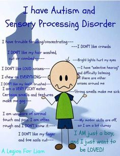 Just an idea of SOME of the traits that make up precious children (and grown ups) who live with these challenges. Until you have one of these children in your life, you have NO IDEA what it's like... :) Cute, brief overview for Autism and Sensory Processing Disorder. Would be great to teach typically developing kids for April- Autism awareness month or teacher in service in the fall.