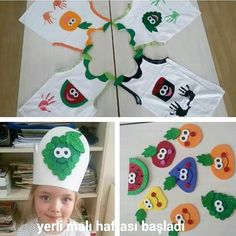Preschool Projects, Kindergarten Activities, Toddler Activities, Preschool Activities, Cute Crafts, Kids Crafts, Mothers Day Cartoon, Fruit Crafts, Theme Days