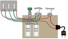 реверсивная схема двигателя 380 на 220 Вольт Electrical Projects, Electrical Installation, Electrical Wiring, Electrical Engineering, Electronics Projects, Off Grid System, Engineering Projects, Solar Power System, Circuit Diagram
