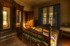 """Quanah Parker's bedroom in his """"Star House"""", now located in Eagle Park, Cache, Oklahoma. Native Indian, Native American Indians, Native Americans, Comanche Warrior, Comanche Indians, Quanah Parker, Beautiful Wife, Present Day, Cherokee"""
