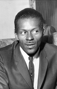 American rock 'n' roll singer/ songwriter/ guitarist Charles 'Chuck' Berry, one of the biggest influences on pre-Beatles pop