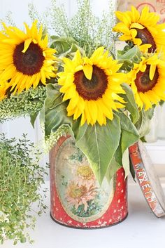 discretion with summer sunflowers, if you must