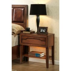 Claire 1-drawer Nightstand   Overstock.com Shopping - Great Deals on Nightstands
