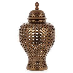 Porcelain Filigree Jar - Bronze from Z Gallerie