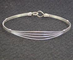Feminine 4-Strand Sterling Silver Wire-Wrapped Bracelet