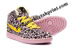 New Air Jordan 1 Fluff Leopard Yellow
