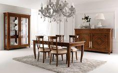 MASSON MATIÉE arredamento classico, camere da letto classiche, como e comodini, credenze in legno classice | tavolo 911 | sedia 912 | argentiera 905 | credenza 902