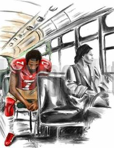 """Art that tells our story. - """"It wasn't about the bus then and it's not about the flag now."""" - Margi Liddy Art by Prints and merchandise available on my website. Caricatures, Image Positive, By Any Means Necessary, Black Art Pictures, Black Artwork, Black History Facts, Afro Art, Black Women Art, Black Man"""