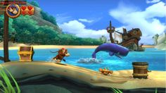donkey kong tropical freeze dk y dixie Freeze, Video Game Symbols, Donkey Kong Country Returns, Nintendo 3ds Games, Diddy Kong, State Of Decay, Pirate Art, Tropical, Lost In Translation