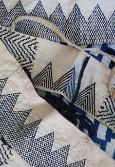 sashiko stitched