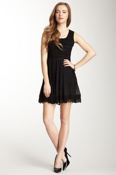 Lace Pleated Skirt Dress