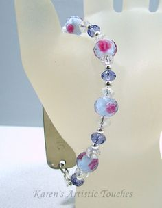 Karen's Artistic Touches Store - Tanzenite Lavender Pink Rose Swarovski Crystal Beaded Medical ID Alert Bracelet, $17.99 (http://www.karensartistictouches.com/tanzenite-lavender-pink-rose-swarovski-crystal-beaded-medical-id-alert-bracelet/)