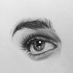 Ideas Eye Sketch Realistic For 2019 Cool Art Drawings, Pencil Art Drawings, Art Drawings Sketches, Sketches Of Eyes, Eye Pencil Drawing, Realistic Eye Drawing, Human Eye Drawing, Eye Art, Art Sketchbook